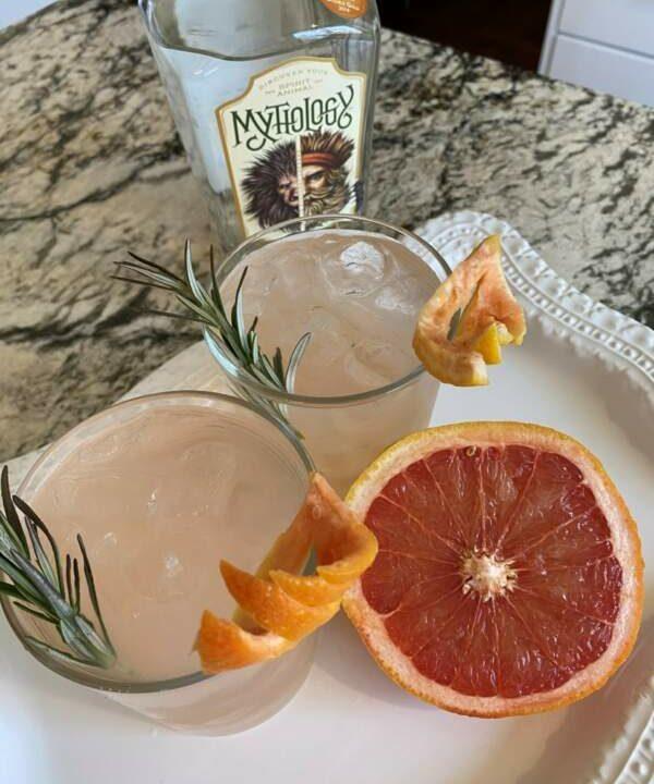 Elderflower Grapefruit Gin + Tonic