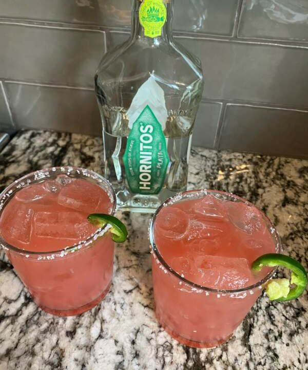 Monday Margarita Mania−Spicy Watermelon Margarita