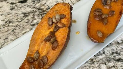 Side Dish Savvy—Charred Sweet Potatoes with Hot Honey Butter and Lime
